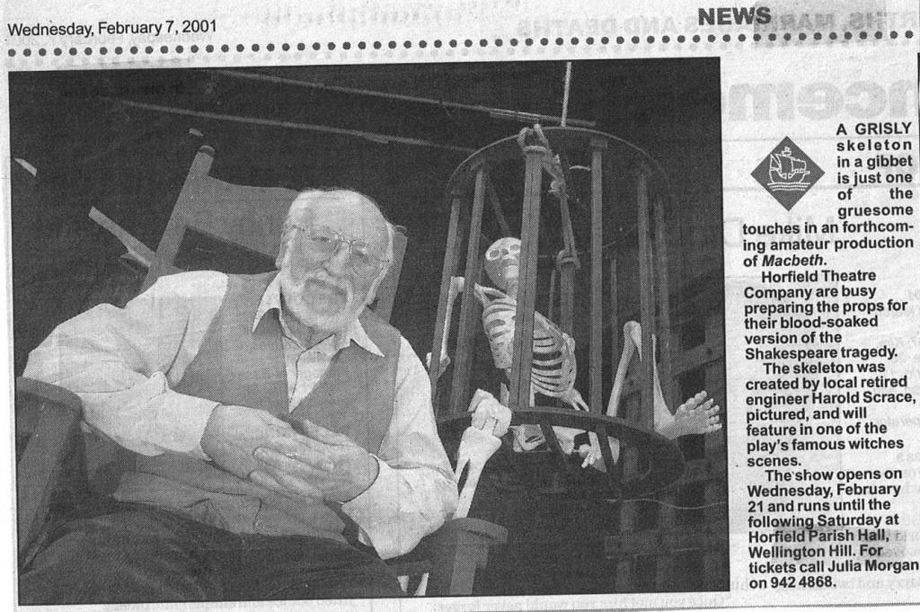 Harold press cutting
